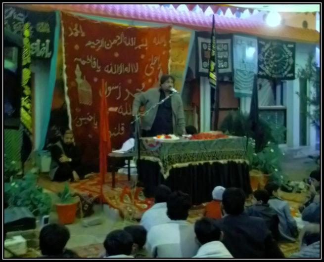 Zakir e Ahl e Baet Jafar e Tayyar at Majlis e Aza