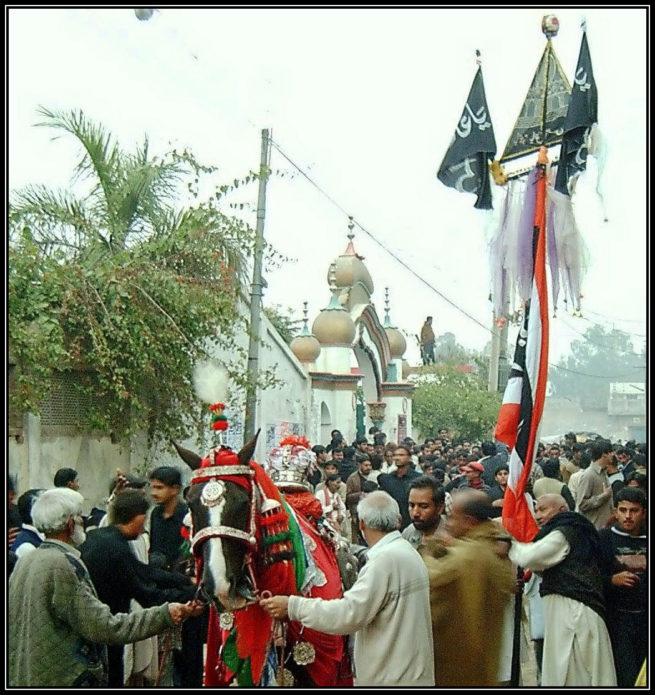 Muharram procession from darbar e Aaliyah