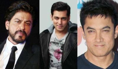 Aamir Khan,,Shah Rukh Khan and Salman Khan