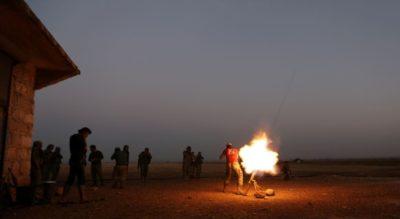 Aleppo Missile Fire