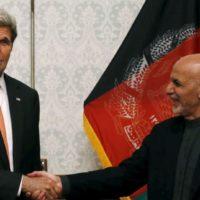 Ashraf Ghani and John Kerry