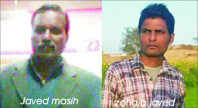 Javed Masih and Zohaib Javed