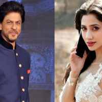 Mahira Khan and Shahrukh Khan