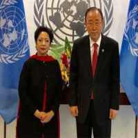 Maliha Lodhi with Ban Ki Moon