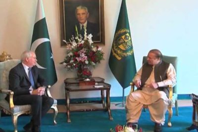 Mark Lyall Grant and Nawaz Sharif Met
