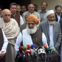 Mehmood Khan Achakzai and Fazlur Rehman