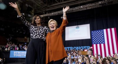 Michelle Obama and Clinton
