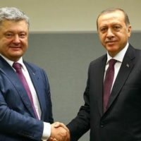Petro Poroshenko and Tayyap Urdrgon