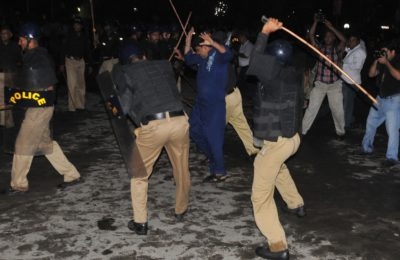 Police Baton Charge