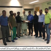 Syed Haider Hussain Receive Check