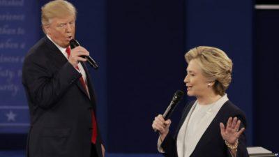 Trump and Hillary Clinton