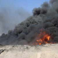 Oil Wells on Fire
