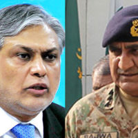 Ishaq Dar and General Qamar Javed Bajwa