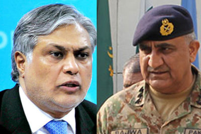 Ishaq Dar and  General Qamar Javed Bajwa