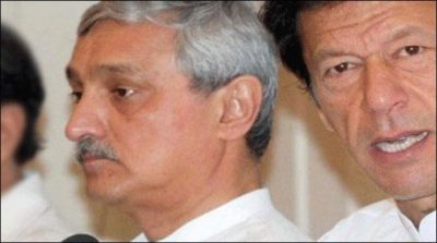 Jahangir Tareen and Imran Khan