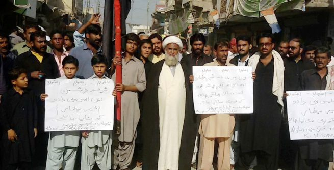 K.N.Shah Protest Against SSP Dadu