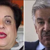 Khawaja Asif and Shireen Mazari
