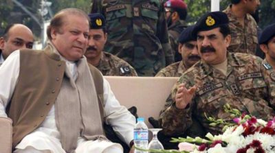 Nawaz Sharif with General Raheel Sharif