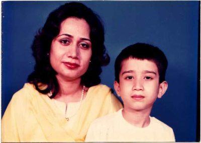 Perveen Shakir her Son Murad Ali