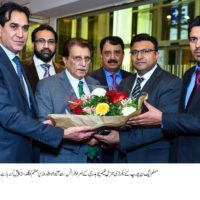 Raja Farooq Haider Receive Flowers