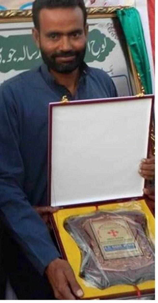 Sahil Munir Receiving Amrit Nagar Jubilee Award