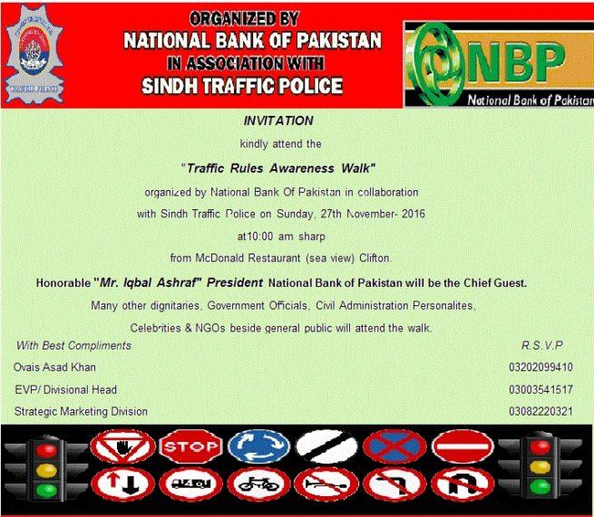 Traffic Rules Awareness Walk