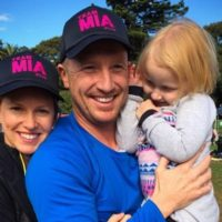 Brad Haddin with Wife and Child