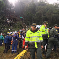 Brazilian Scccer Team's Plane Crashes
