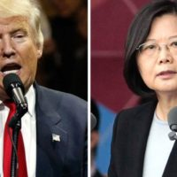 Donald Trump and Tsai Lng-Wen