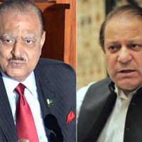 Mamnoon Hussain and Nawaz Sharif