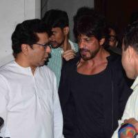 Shah Rukh Khan and Raj Thackeray
