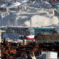 Syria Buses Caravans Attack