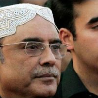 Asif Ali Zardari with Bilawal Bhutto