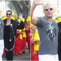 Deepika Padukone and Wayne Diesel