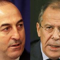 Mevlut Cavusoglu and Sergey Lavrov