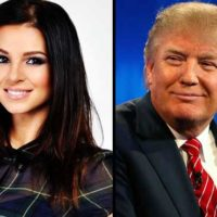 Miss Hungary and Trump