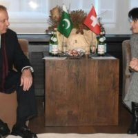 Nawaz Sharif Meets Switzerland President