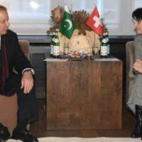 Nawaz Sharif Meets Switzerland President