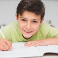 Boy Child Studying