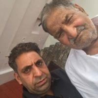 Chaudhry Mohammad Razaq with Father