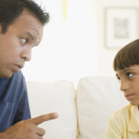 Father Scolding to Child