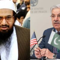 Hafiz Saeed and Khawaja Asif