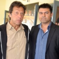 Imran Khan with Yasir Qadeer