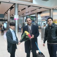 Syed Ali Abbas Welcome in Ireland Airport