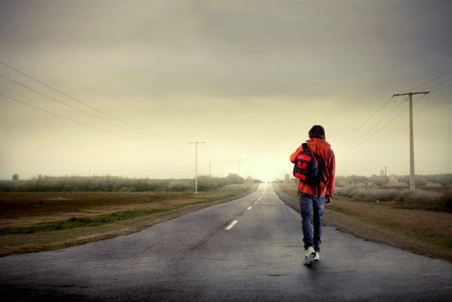 Walking on Roads