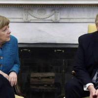 Angela Merkel with Donald Trump