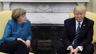 Angela Merkel with Donald Trump