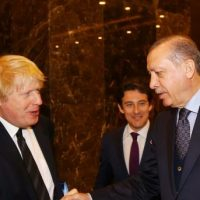 Boris Johnson and Recep Tayyip Erdogan