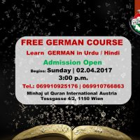 German Language Course in Minhaj Center