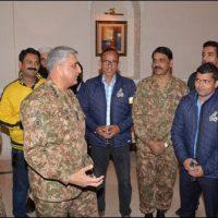 Qamar Javed Bajwa Meet Peshawar Zalmi